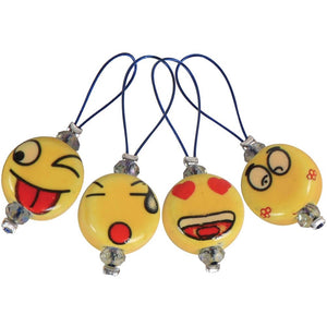 Zooni Stitch Markers Knitter's Pride Smileys Face