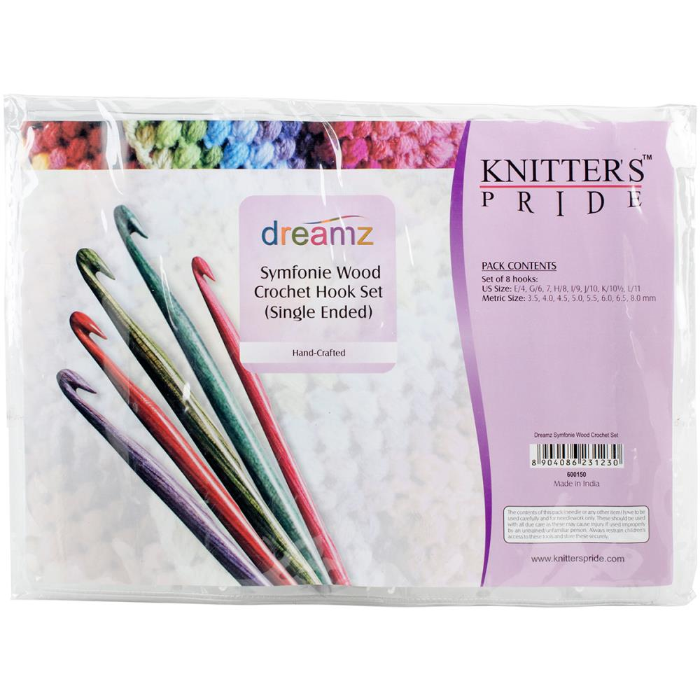 Dreamz Symfonie Wood Single Ended Crochet Hook Set by Knitter's Pride