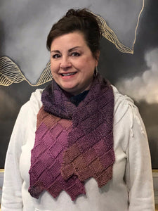 Painted Sky Entrelac Scarf: Knitting Class