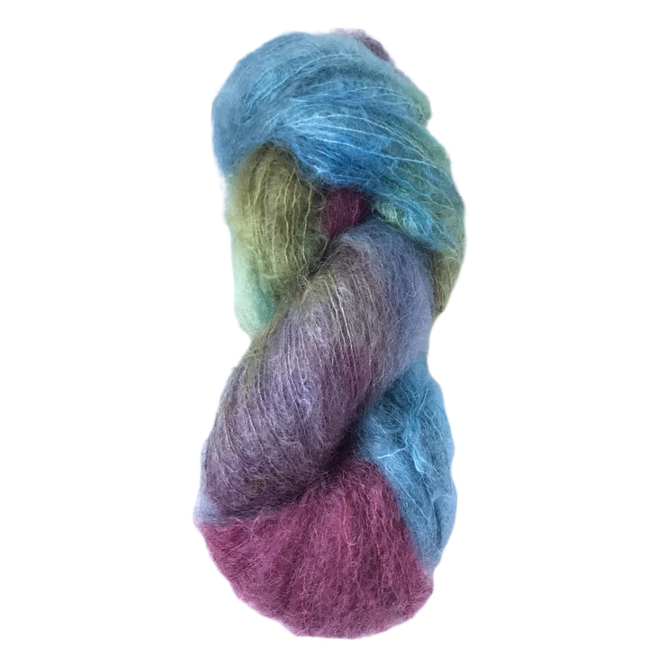 Elaine: Brushed Kid Mohair Yarn Hand Painted by Josh Steger