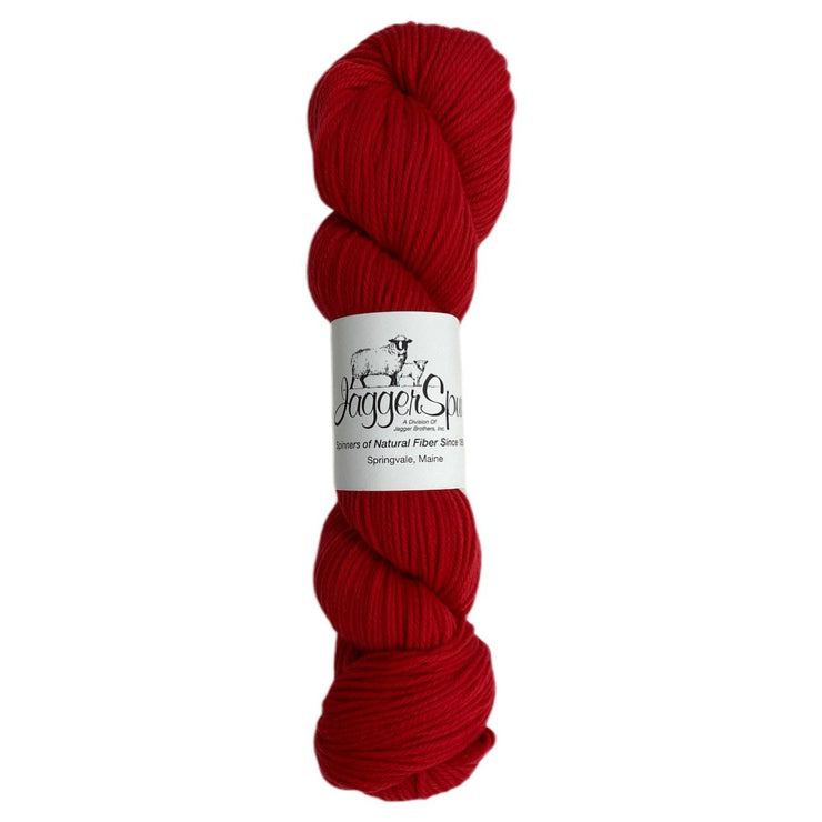 Super Lamb 4/8 Worsted Weight 100g Hanks Garnet
