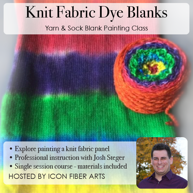 Knit Fabric Dye Blank Painting Class with Josh Steger