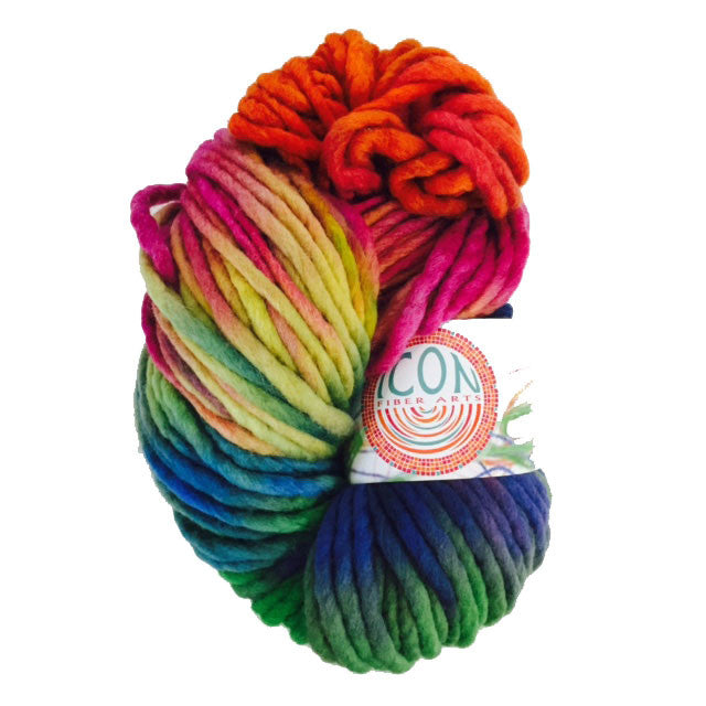 Hand Painted Heavy Bulky Weight Merino Yarn in Candy Jar