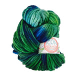 Hand Painted Heavy Bulky Weight Merino Yarn in Peacock