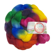 Superfine Merino Wool Roving Hand Painted Josh Steger Candy Jar Rainbow