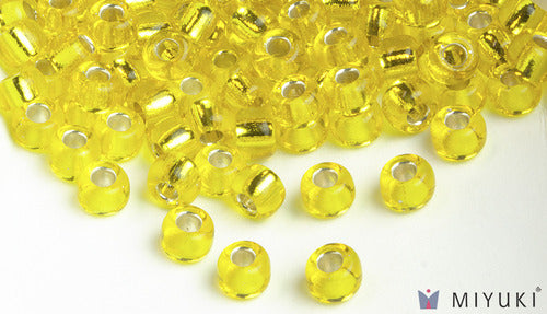Miyuki 6/0 Glass Beads 6 - Silverlined Yellow approx. 30 grams