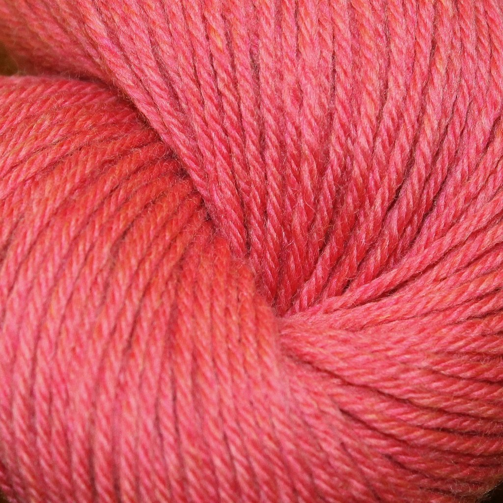 Mousam Falls Sock Yarn Fingering Weight Jagger Spun Rhubarb Pink Coral