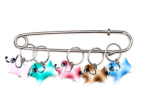Colorful Puppy Charming Stitch Markers