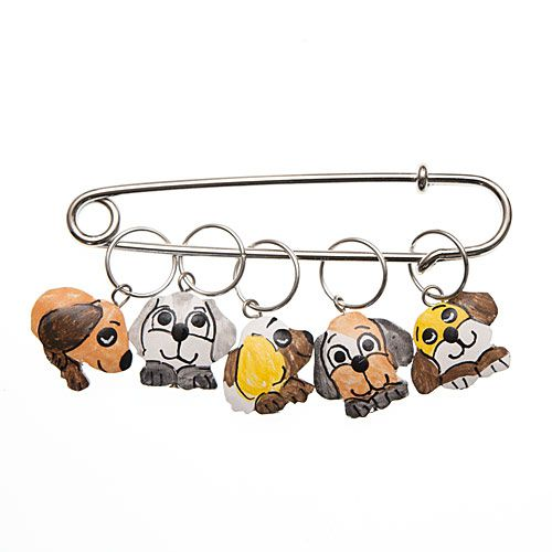 Puppy Dog Charming Stitch Markers