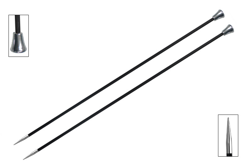 "10"" Karbonz Single Pointed Knitting Needles Knitter's Pride"