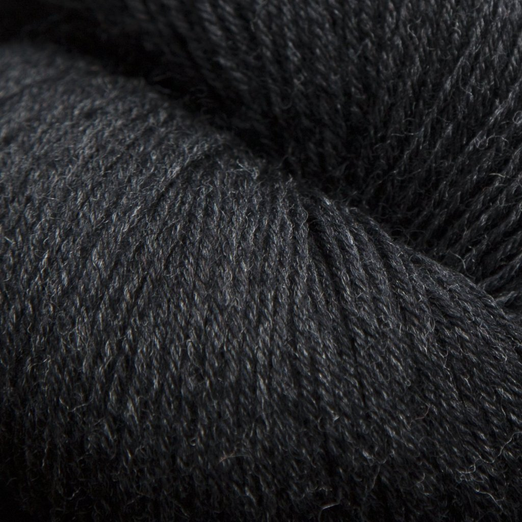 Mousam Falls Sock Yarn Fingering Weight Jagger Spun Carbon Black