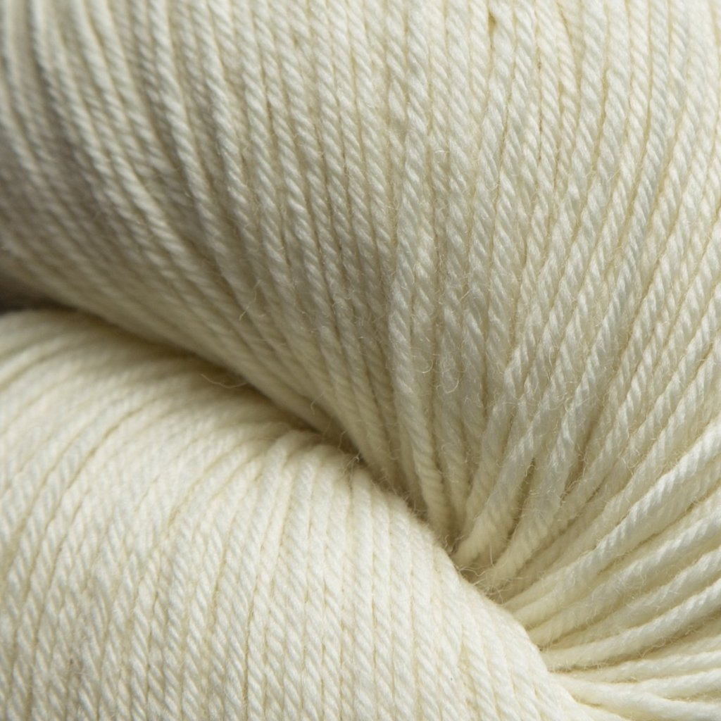 Mousam Falls Sock Yarn Fingering Weight Jagger Spun Ecru White