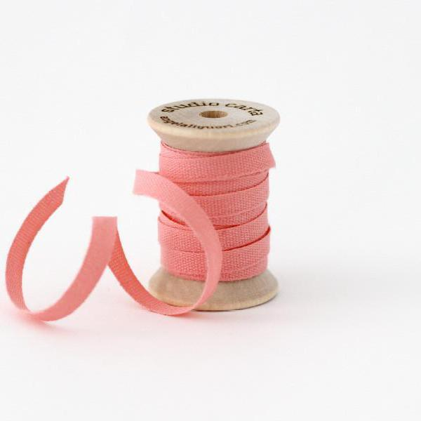 "1/4"" Italian Cotton Ribbon Spool 5 yards by Studio Carta Blossom Pink"