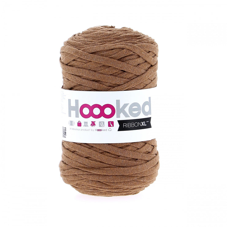 Hoooked Ribbon XL Yarn Caramel Brown