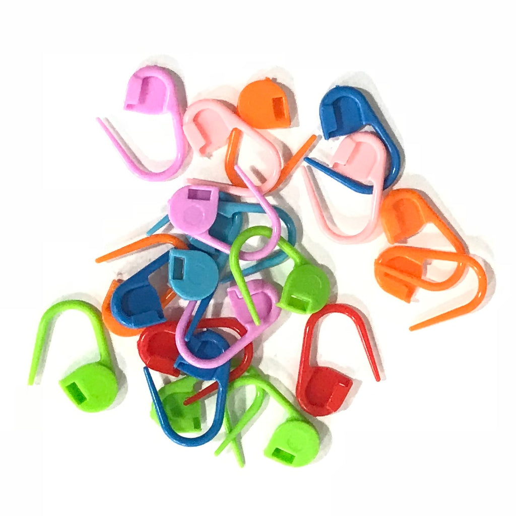 Locking Stitch Markers (20 Count) Plastic