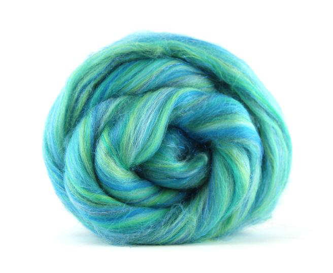 Merino Wool Sparkle Blend Roving by the Ounce - It Calls Me
