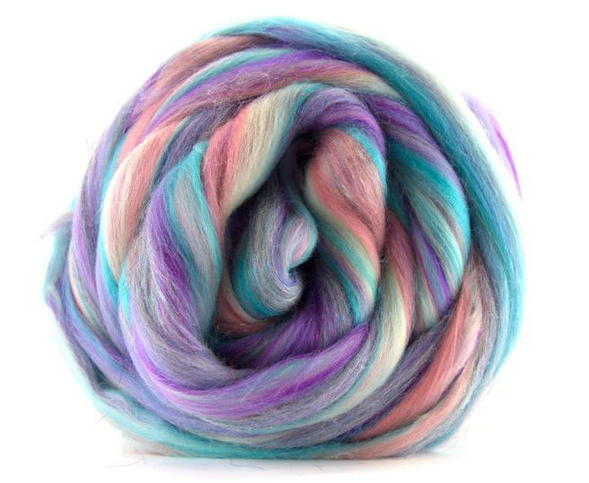 Merino Wool Sparkle Blend Roving by the Ounce - Once Upon A Time