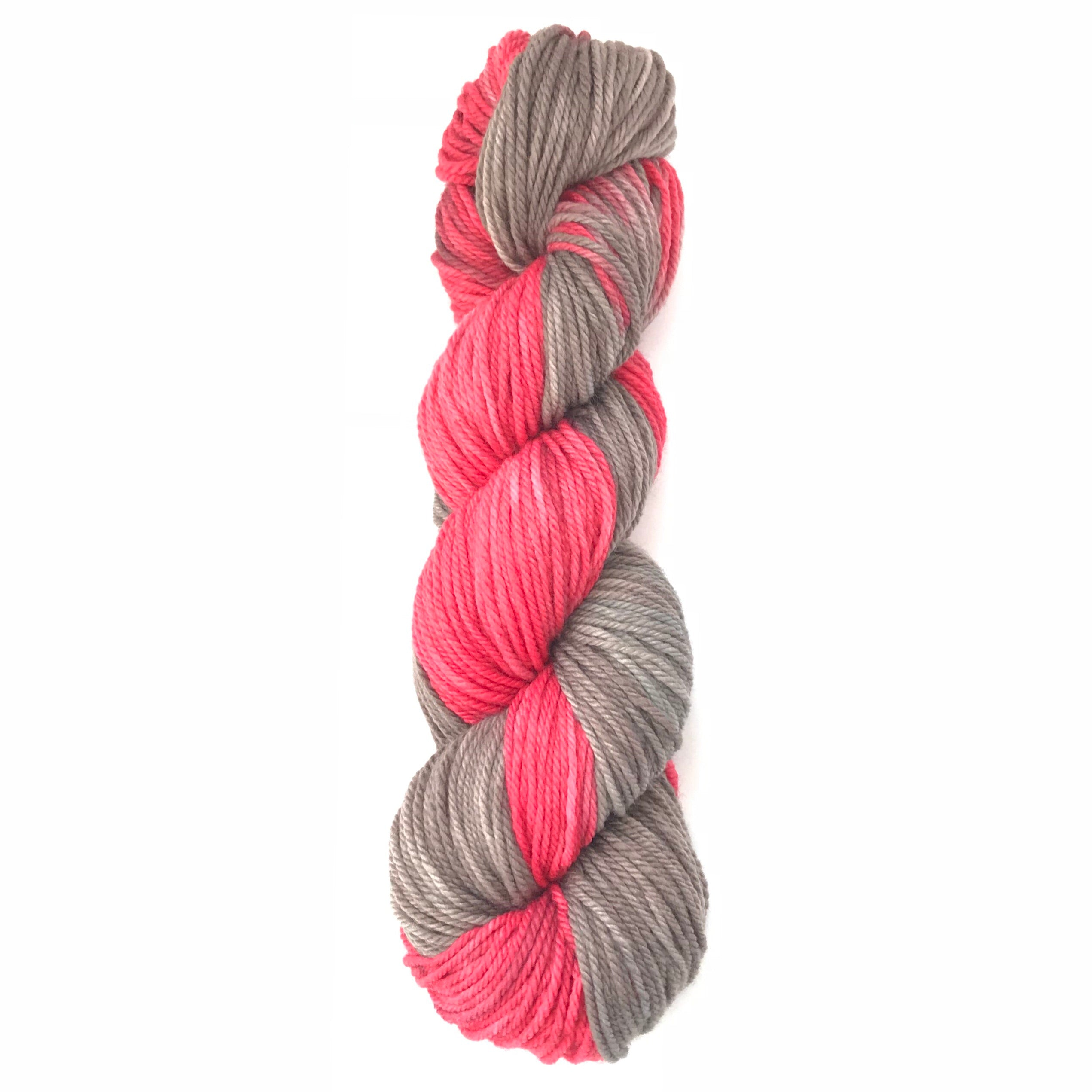 Jane: Superwash Wool & Nylon Yarn Flamingo Colorway