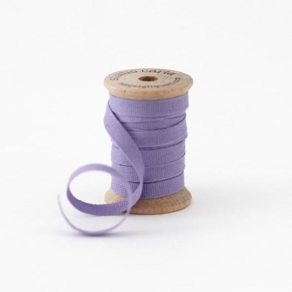 "1/4"" Italian Cotton Ribbon Spool 5 yards by Studio Carta Lavender"