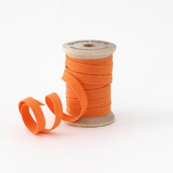 "1/4"" Italian Cotton Ribbon Spool 5 yards by Studio Carta Melon Orange"