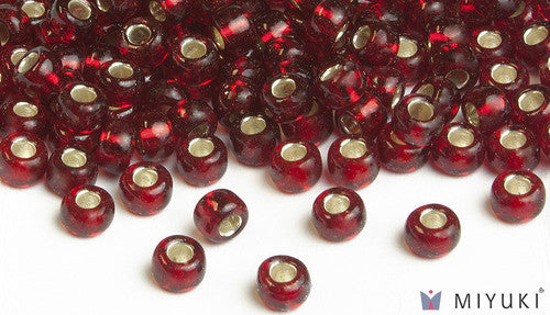 Silverlined Ruby 6/0 Glass Beads