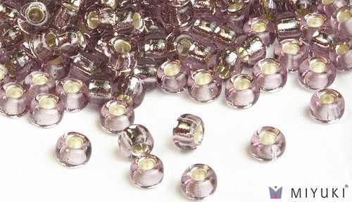 Silverlined Lilac 6/0 Glass Beads