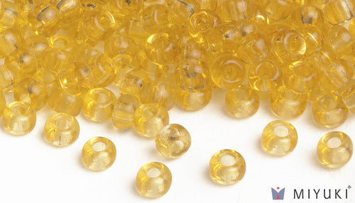 Transparent Pale Gold 6/0 Glass Beads
