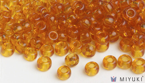 Transparent Amber 6/0 Glass Beads