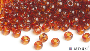 Transparent Copper 6/0 Glass Beads