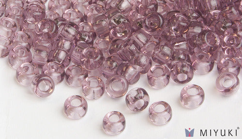 Transparent Lilac 6/0 Glass Beads