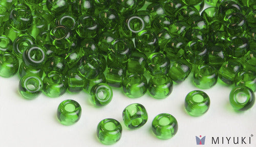 Transparent Grass Green 6/0 Glass Beads