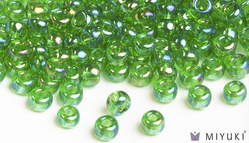 Transparent Light Green AB 6/0 Glass Beads