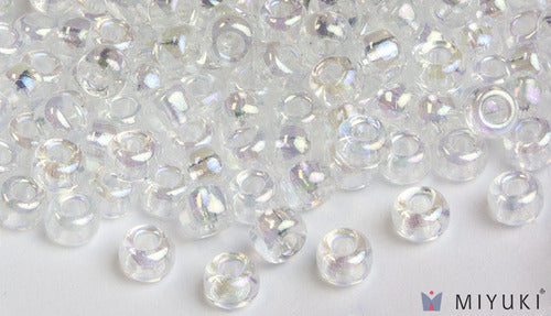 Transparent Crystal AB 6/0 Glass Beads