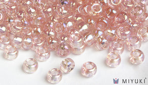 Transparent Pale Pink AB 6/0 Glass Beads