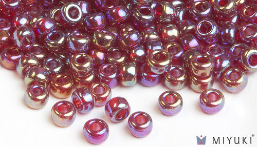 Transparent Ruby AB 6/0 Glass Beads