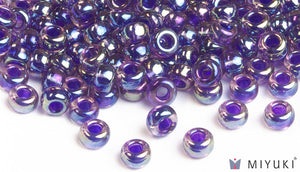 Purple-lined Amethyst AB 6/0 Glass Beads