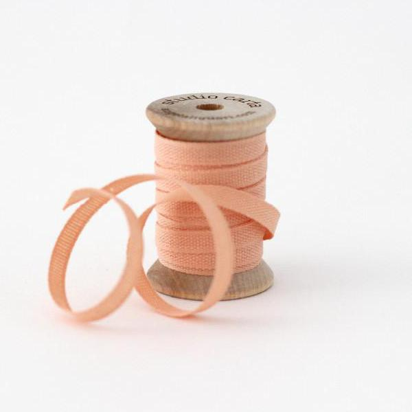 "1/4"" Italian Cotton Ribbon Spool 5 yards by Studio Carta Peach"