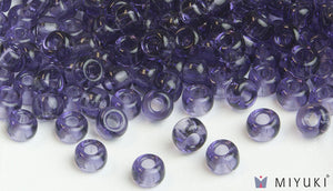 Miyuki 6/0 Glass Beads 157 - Transparent Lavender approx. 30 grams