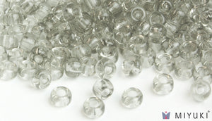 Miyuki 6/0 Glass Beads 2412 - Transparent Pale Silver approx. 30 grams