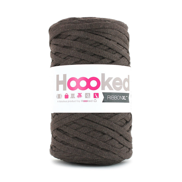 Hoooked Ribbon XL Yarn Tobacco Brown