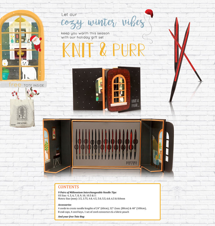 Knit & Purr Interchangeable Needle Gift Set