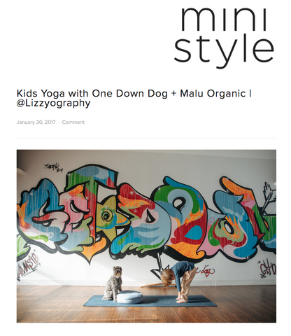 Kids Yoga with One Down Dog + Malu Organic | @Lizzyography