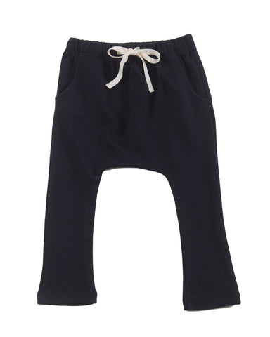 harem pants with pockets - black