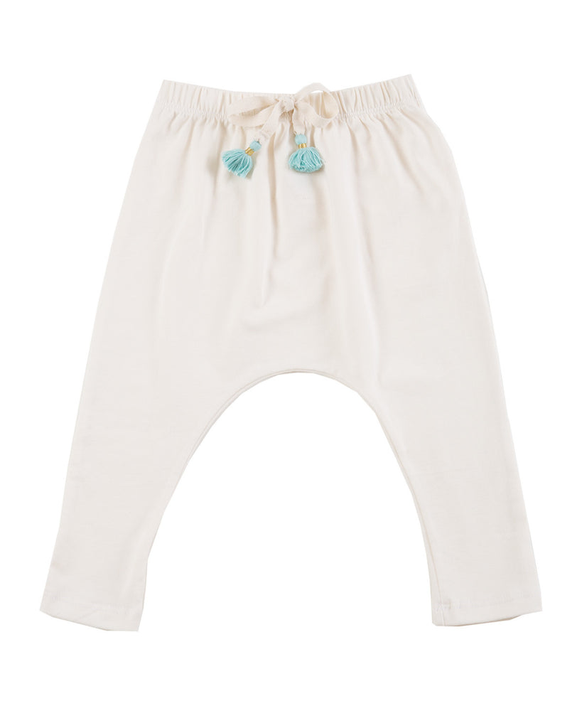 Harem pants with tassels - Natural