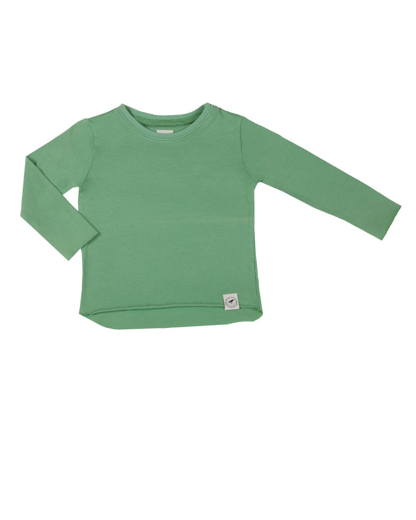 raw edge tee - green