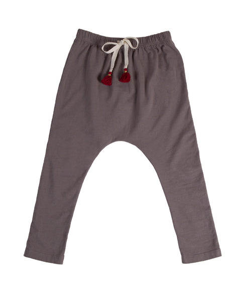 harem pants with tassels - sahara grey