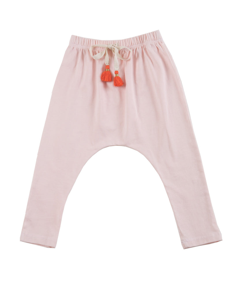 harem pants with tassels - ballet pink