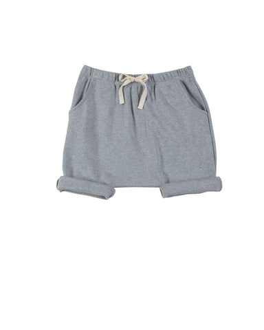 harem shorts with pockets - grey melange