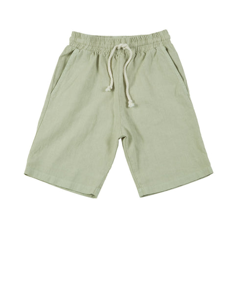 khaki shorts - dusty sage