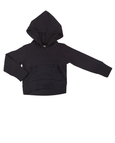hoodie with pockets - black